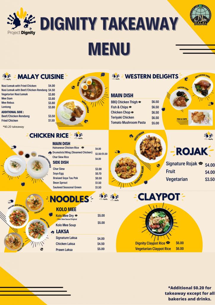 TAKEAWAY MENU - dishes